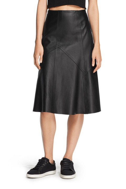 RAG & BONE LEATHER KELLY SKIRT