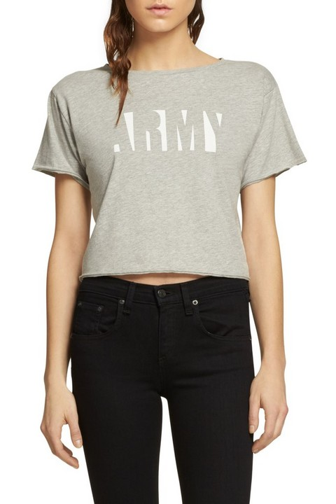RAG & BONE GRAPHIC X-BOYFRIEND CROPPED TEE