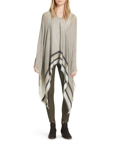 RAG & BONE Border Stripe Poncho
