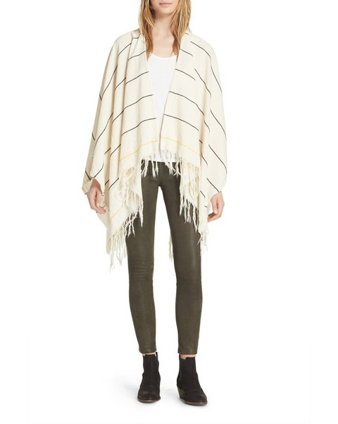 RAG & BONE SUMMER STRIPE PONCHO