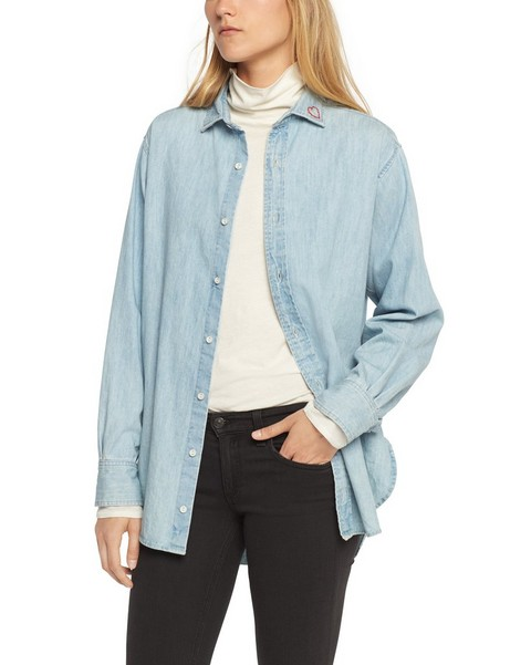 RAG & BONE BOYFRIEND SHIRT - EMBROIDERY