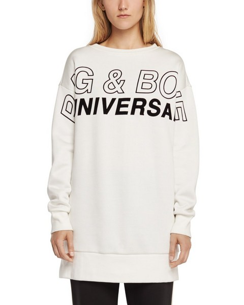 RAG & BONE MOTO OVERSIZED PULLOVER WITH GRAPHIC
