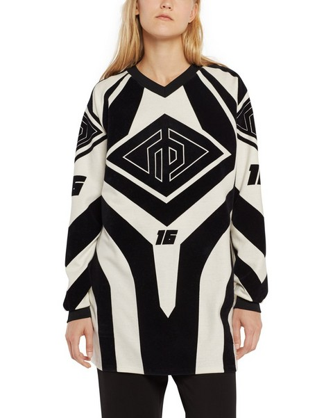 RAG & BONE OPTICAL MOTO PRINT LONG SLEEVE