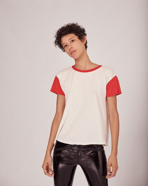 RAG & BONE COLORBLOCKED VINTAGE CREW