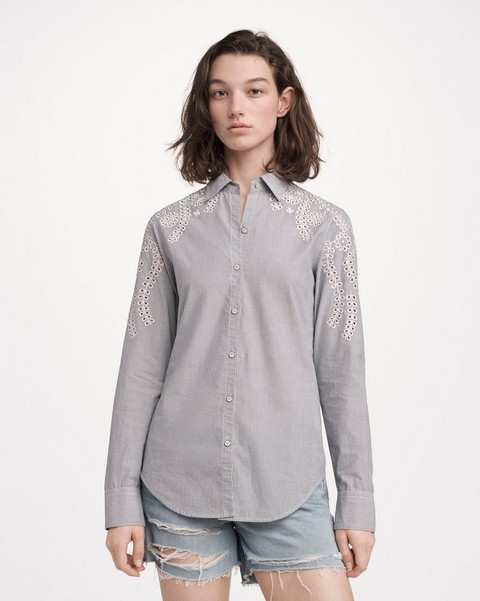 RAG & BONE STRIPE SAHARA SHIRT