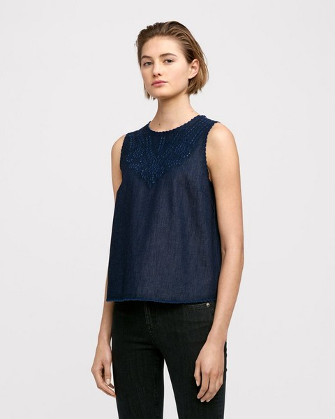 RAG & BONE SAHARA TANK DENIM