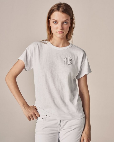 RAG & BONE LOVE FACE EMBROIDERED TEE