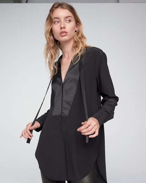 RAG & BONE FRIDA TUX BLOUSE