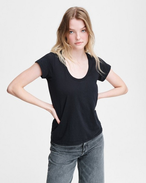 RAG & BONE THE SLUB U NECK TEE