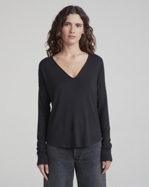 RAG & BONE THE KNIT VEE LONG-SLEEVE