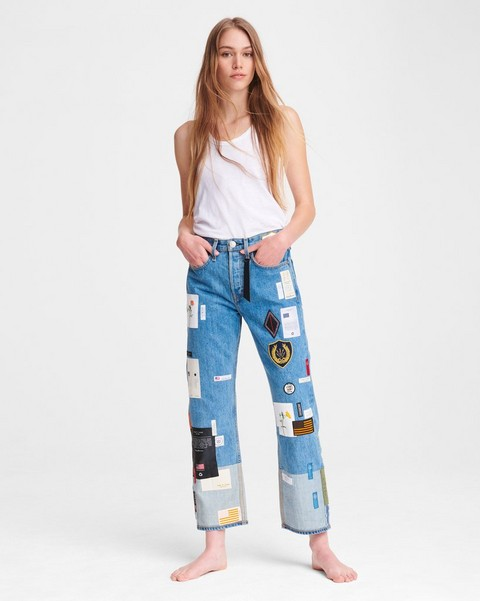 RAG & BONE PATCHWORK DENIM