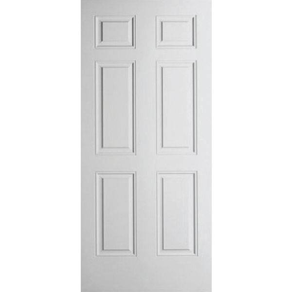 JELD WEN Wood Grain Colonist 6 Panel Interior Door