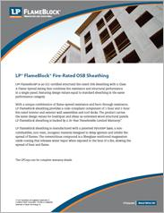 LP® FlameBlock® Fire-Rated OSB Sheathing Information Sheet