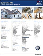 BMC Specialty Building Products Line Card