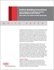DuPont™ Building Innovations White Paper