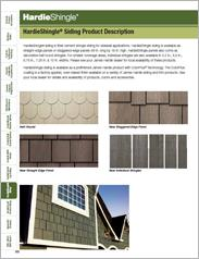 HardieShingle® Siding Product Description