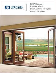 JELD-WEN® IWP® Custom Exterior Wood and IWP Aurora® Fiberglass Folding Door System