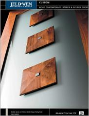 JELD-WEN® Custom Wood Contemporary Exterior and Interior Doors