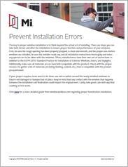 MI Prevent Installation Errors