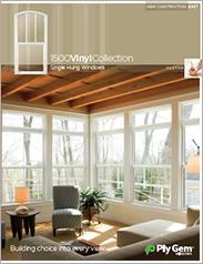 Ply Gem® 1500 Vinyl Collection Single Hung Custom Windows Spec Sheet - East