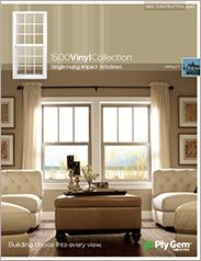 Ply Gem® 1500 Vinyl Collection Single Hung Impact Windows Spec Sheet - East