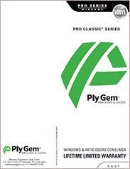 Ply Gem® Pro Classic Series Window Warranty - East
