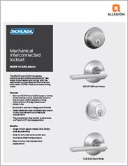 Schlage® Mechanical Interconnected Lockset