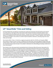 LP® SmartSide® Trim and Siding Information Sheet