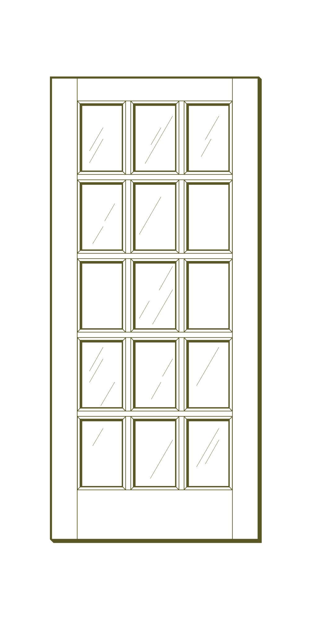 15 Lite Interior Fir French Door