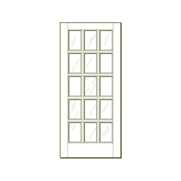 15 Lite Interior Fir French Door