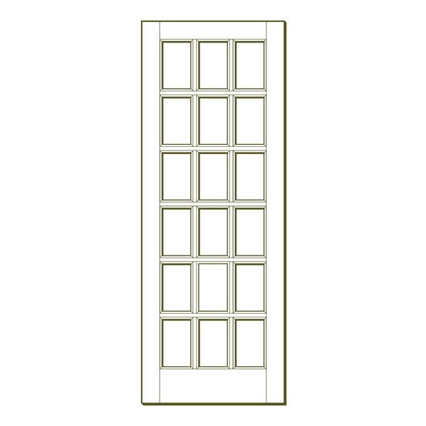 Merveilleux 18 Lite Interior Fir French Door