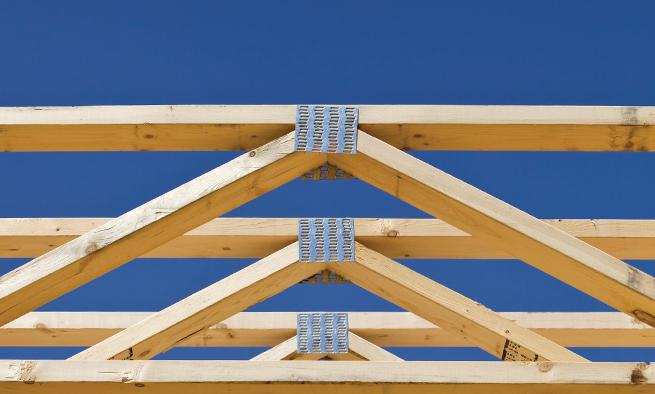 Trusses prefabricated wall panels build with bmc for Manufactured roof trusses