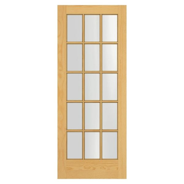 15 Lite Interior Pine Door