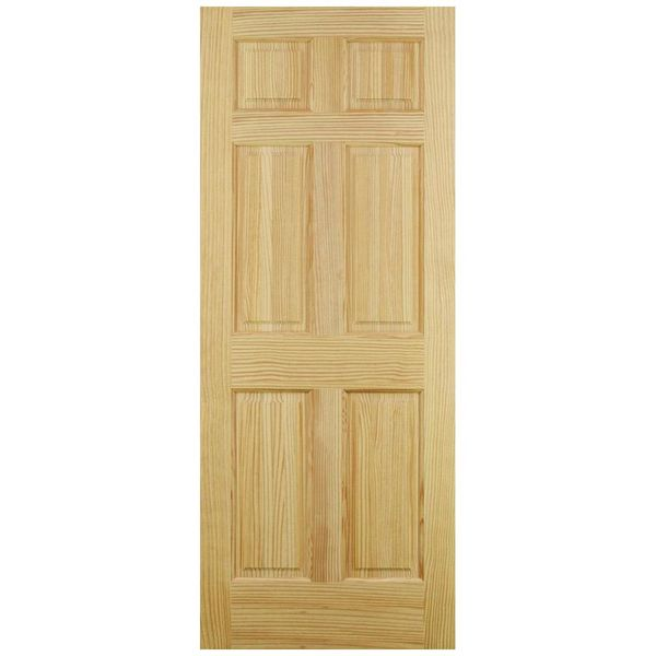 6 Panel Interior Pine Door Full Square P6p2068fs Build With Bmc