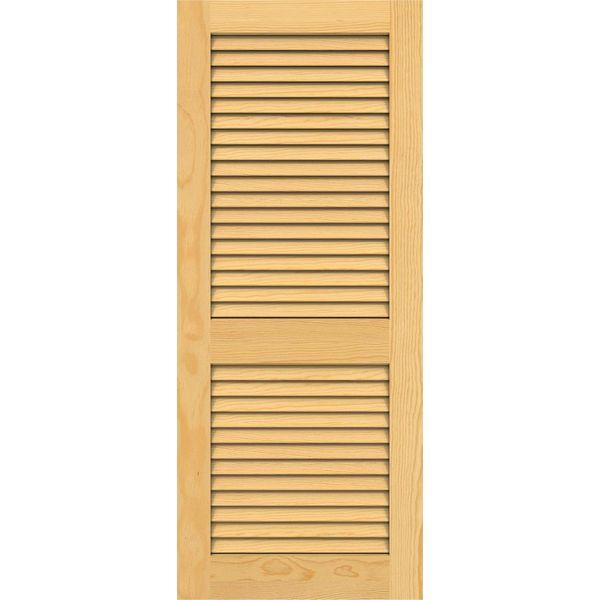 Gentil Full Louver Interior Pine Door