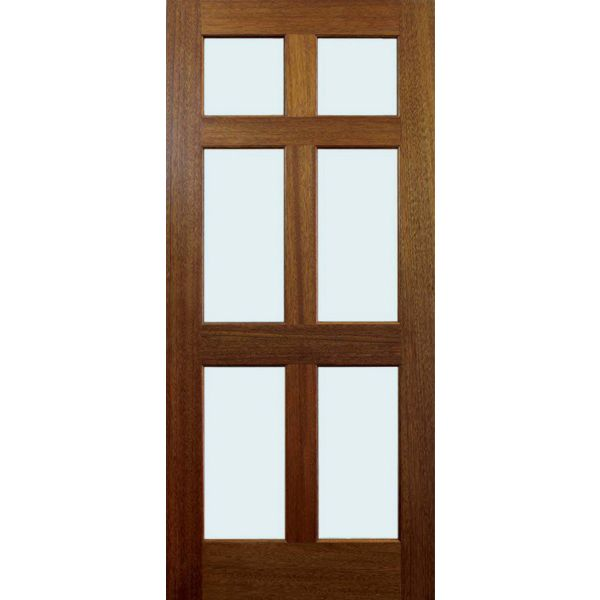 28 Storm Door #15   6 Lite Wood Storm Door