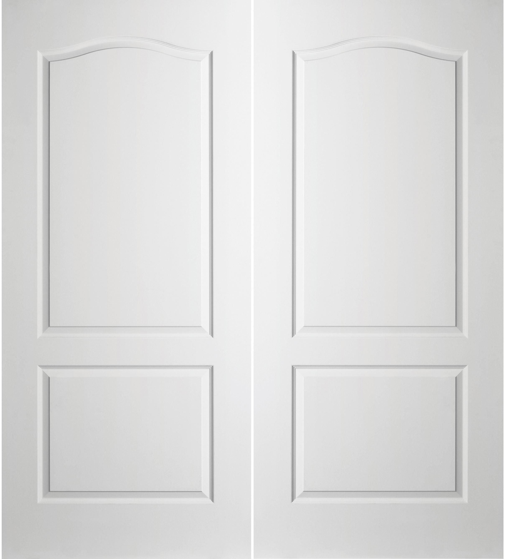 Prehung Interior Double Camden 2 Panel Arch Top Door W/ Astragal