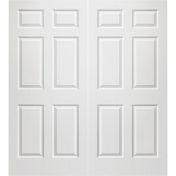 Prehung Interior Double Colonist 6 Panel Door W/ Ball Catch