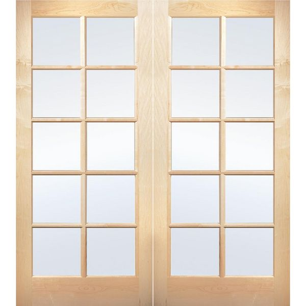 Prehung Interior Double French Door W/ Astragal 10 Lite Unfinished