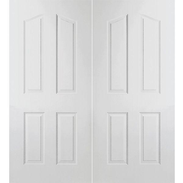 Prehung Interior Double Provincial 4 Panel Arch Top Door W Astragal