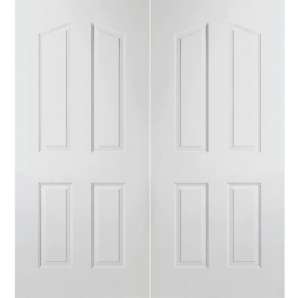 Prehung Interior Double Provincial 4-Panel Arch Top Door w/ Astragal  sc 1 st  BMC & Prehung Interior Double Provincial 4-Panel Arch Top Door w/ Astragal ...