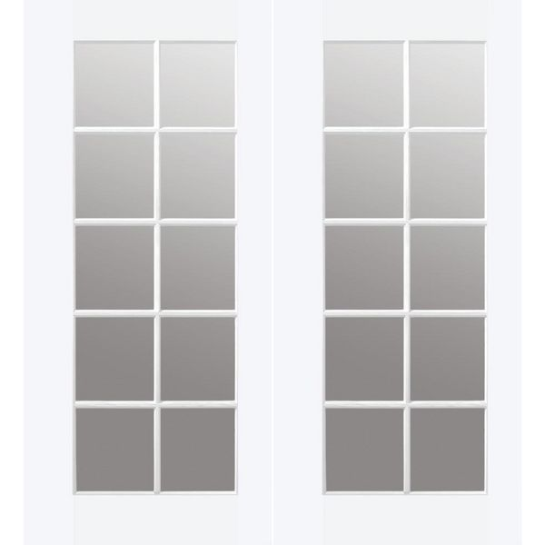 Prehung Interior Double French Door W Astragal 10 Lite Primed