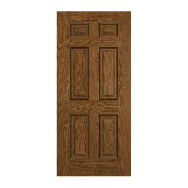 Prehung Exterior Design Pro 6 Panel Entry Door Wf60030lamp180dbsn