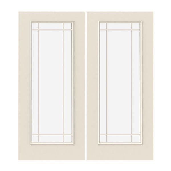 Prehung Exterior Steel 9-Lite Prairie Double Doors w/ Low-E Glass ...