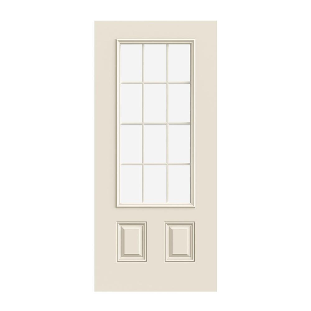 Prehung Exterior Smooth Pro 2 Panel 12 Lite Door