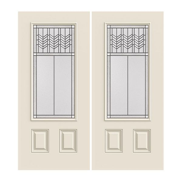 Prehung Exterior Smooth-Pro Double Doors w/ 3/4-Lite Prairie Bevel  sc 1 st  BMC & Prehung Exterior Smooth-Pro Double Doors w/ 3/4-Lite Prairie Bevel ...