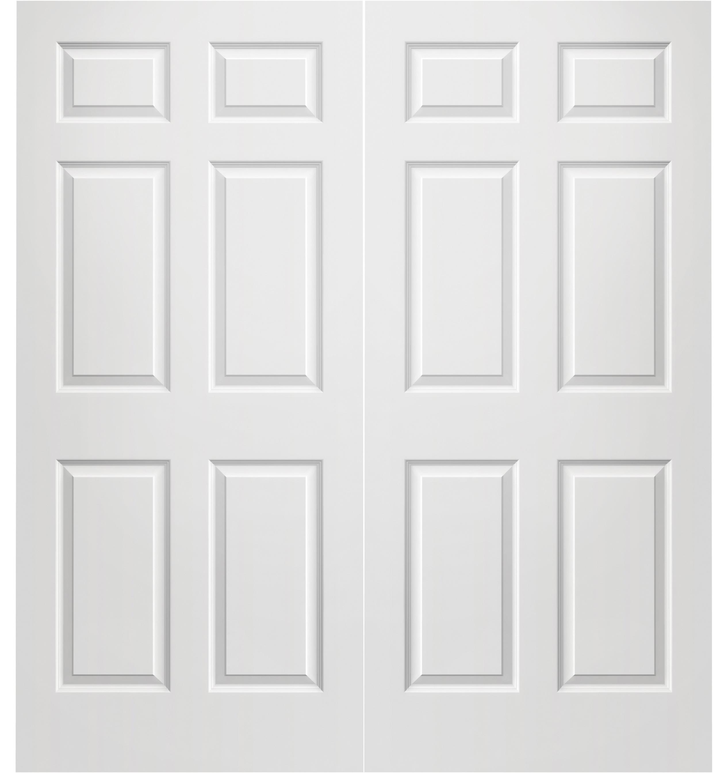 Prehung Interior Double Colonist 6 Panel Door W/ Astragal