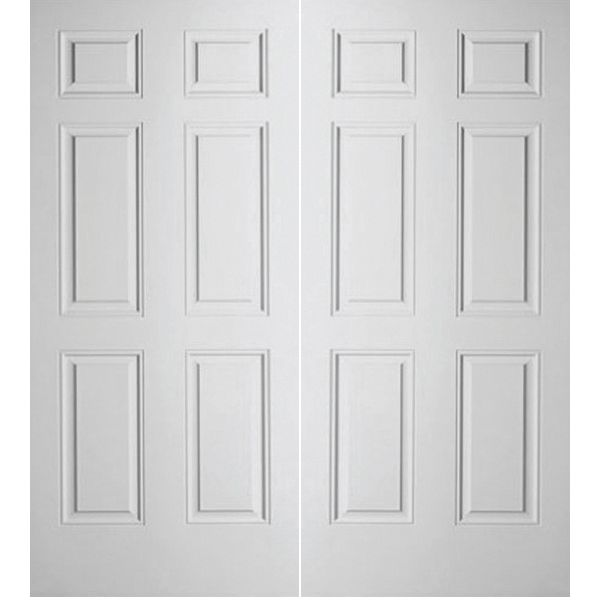 Prehung Interior Double Colonist 6 Panel Door W/ Astragal
