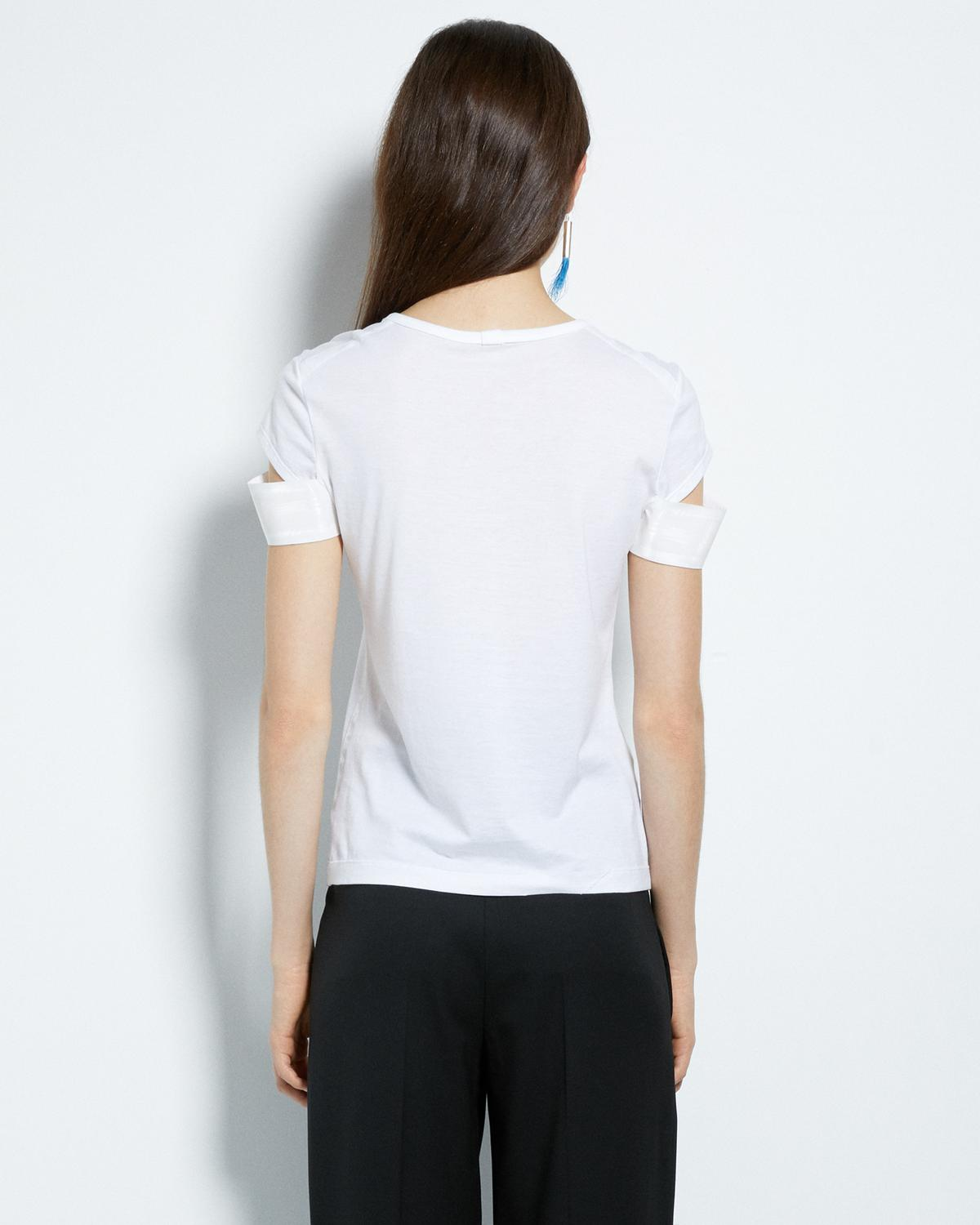 SHINY CUFF SHORT SLEEVE TEE