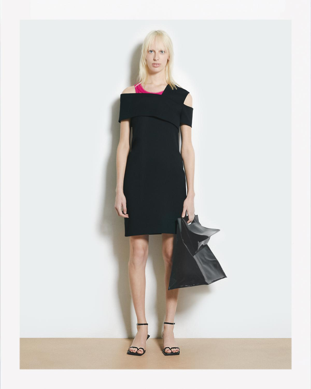 ASYMMETRIC SCUBA DRESS